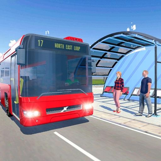 Simple City Coach Bus Driving