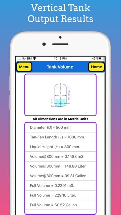 Tank Partial Volume Calculator screenshot 7