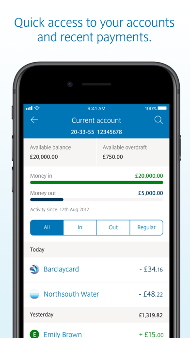 Screenshot for Barclays in United Kingdom App Store