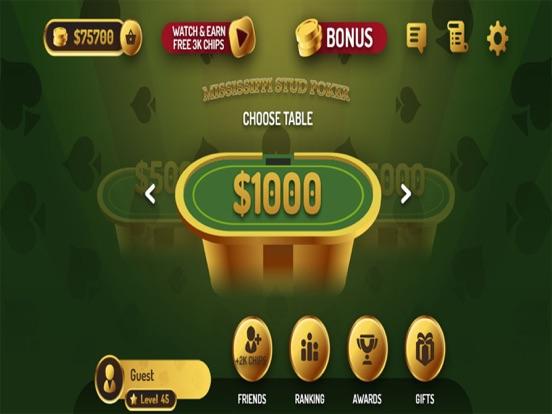 Mississippi Stud Poker Casino screenshot