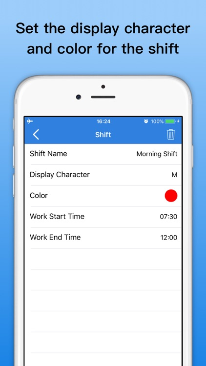 Shift Calendar - Schedule