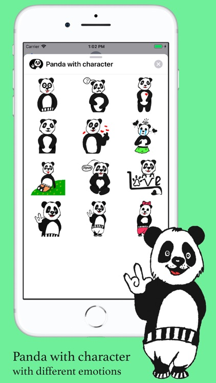 Panda with character