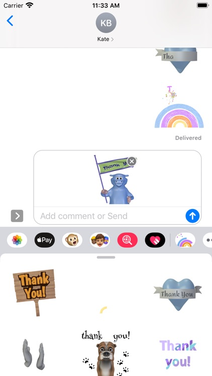 Thank You Stickers Pack screenshot-5