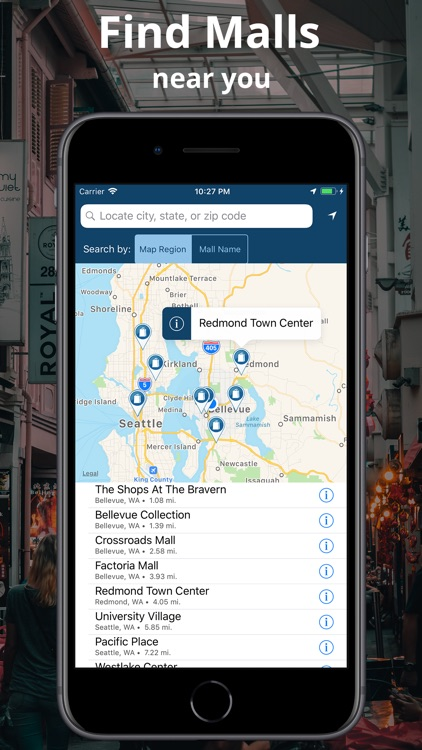 Malls by Point Inside by Point Inside, Inc. on real estate app, employment app, mall maps windows phone 8,