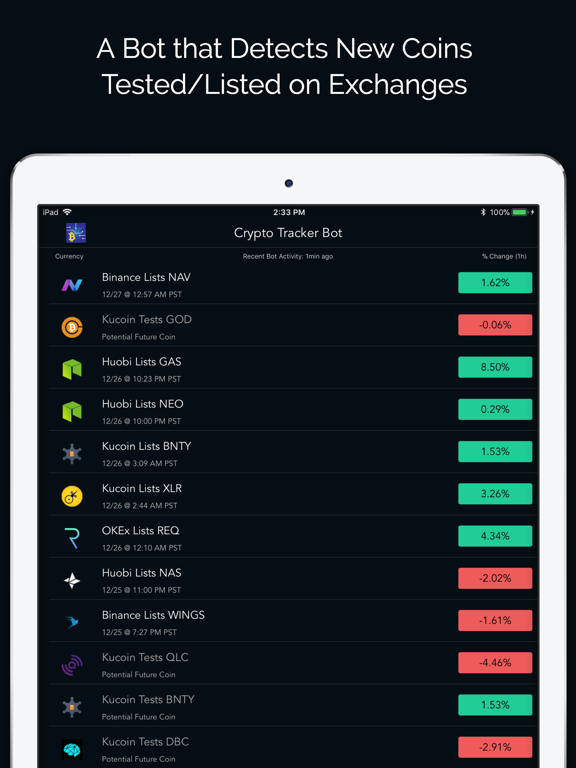 Screenshot #4 pour Crypto Tracker Bot & Portfolio