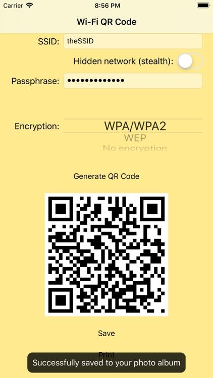 Wi-Fi QR Code screenshot-5