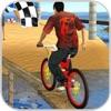 BMX Cycles Driving Beach