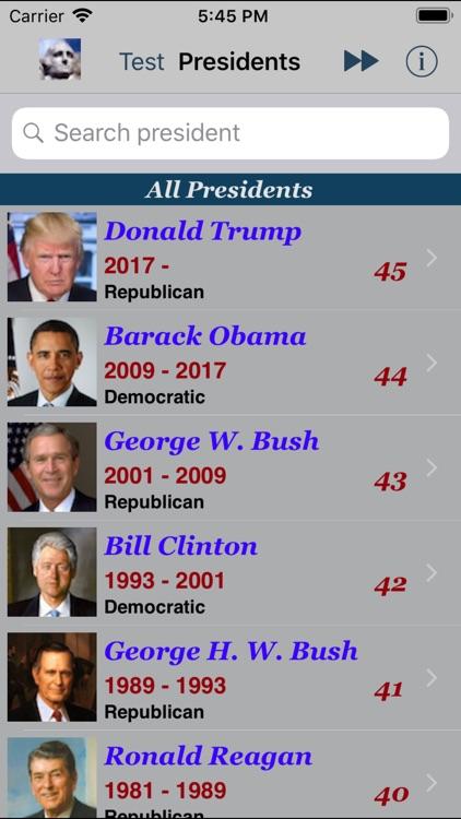 Presidents of USA