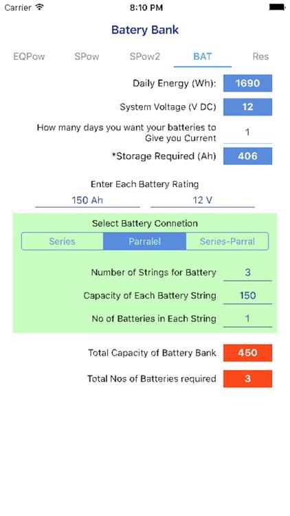 PV Calculator - off grid screenshot-3