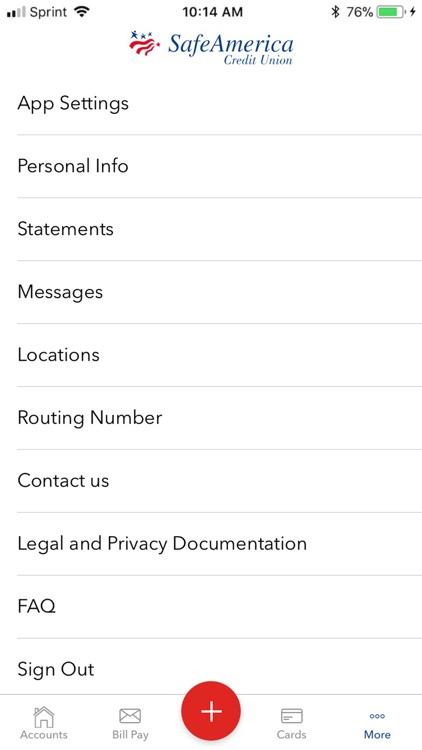 SafeAmerica Credit Union screenshot-4