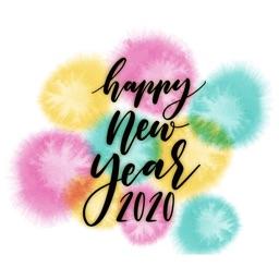 Watercolor New Year Greetings