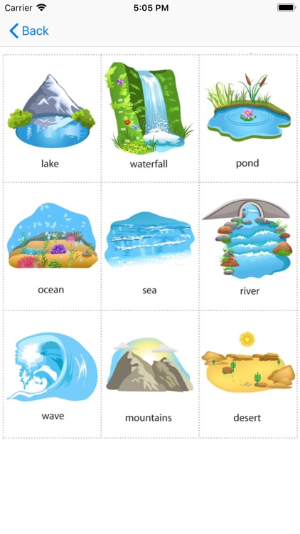 Nature vocabulary word screenshot-3