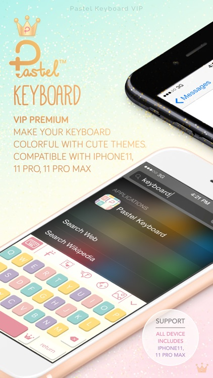 Pastel Keyboard Themes Color