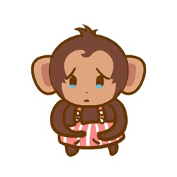 铋崴手机客户端-大耳猴表情贴图