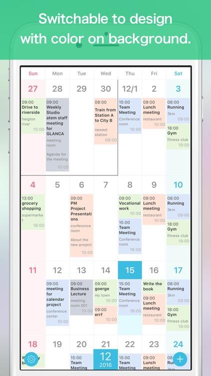 GLANCA - Simple Calendar