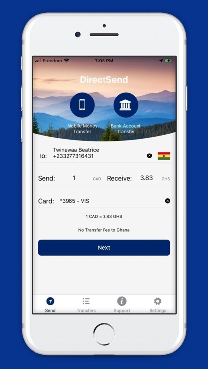DirectSend-Send Money To Ghana