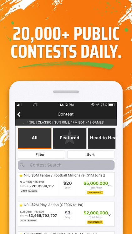 DraftKings Fantasy Football screenshot-3