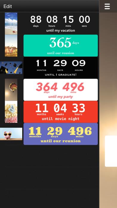 Countdown review screenshots