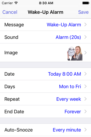 Reminder with Voice Reminders - náhled