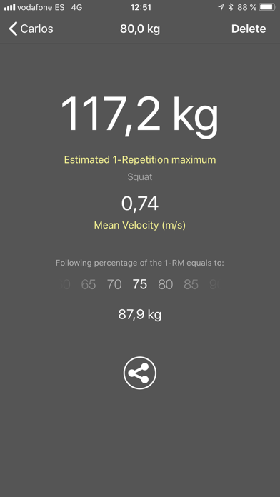 Screenshot for My Lift: Measure your strength in Greece App Store