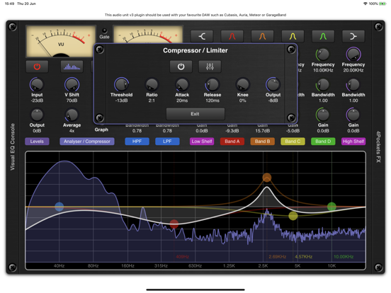 Visual EQ Console AUv3 Plugin screenshot 5