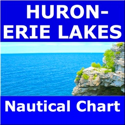Huron & Erie Lakes Marine Map