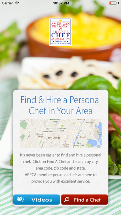 Find & Hire a Chef screenshot two