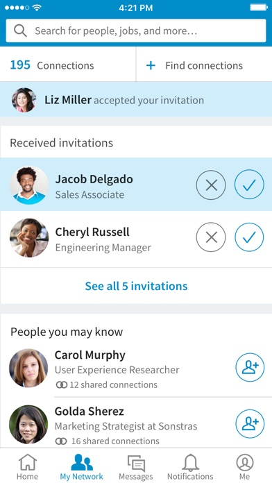 Screenshot for LinkedIn in New Zealand App Store