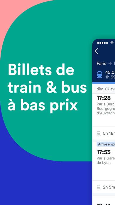 Screenshot #1 pour Trainline : Billets & horaires