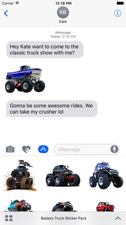 Badass Truck Sticker Pack screenshot-4