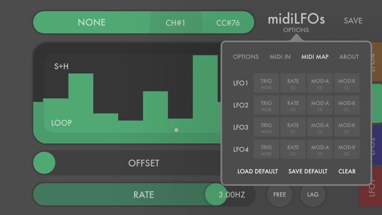 midiLFOs - midi modulator