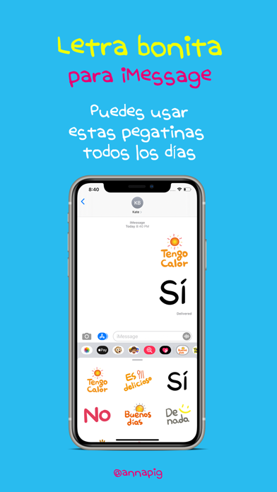 letra bonita para iMessage screenshot 2