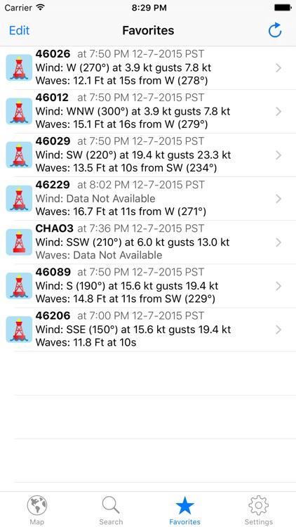 NOAA Buoy Reports screenshot-3
