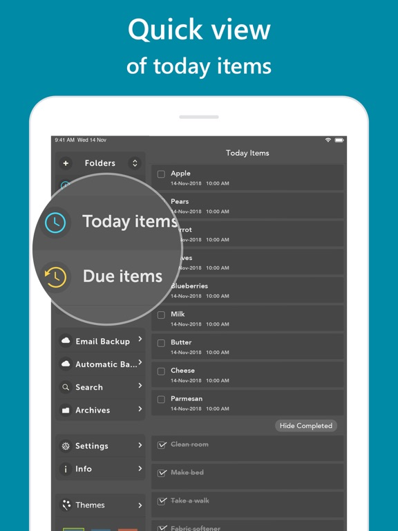 Orderly - Simple to-do lists Screenshots