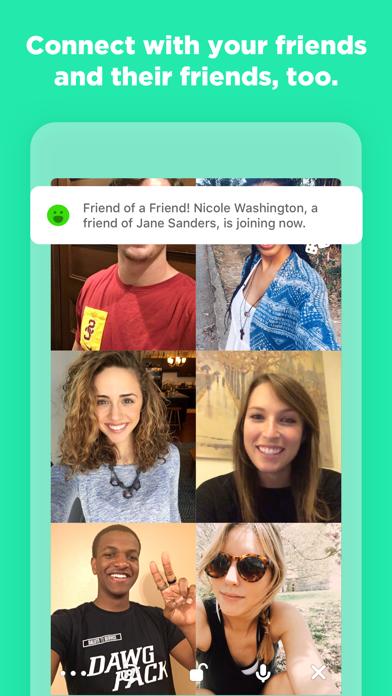 Screenshot of Houseparty App
