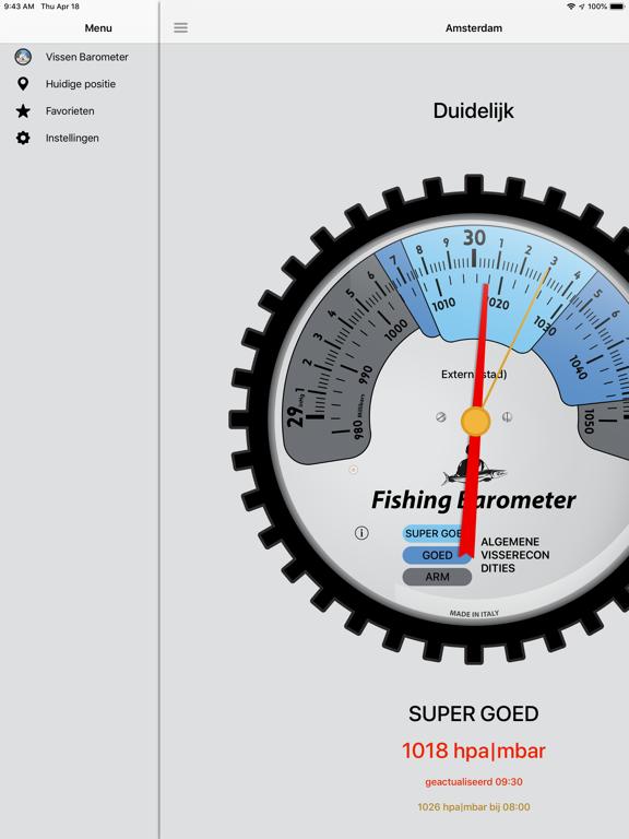 Vissen Barometer iPad app afbeelding 3