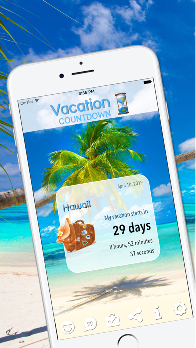 Vacation Countdown App Screenshot