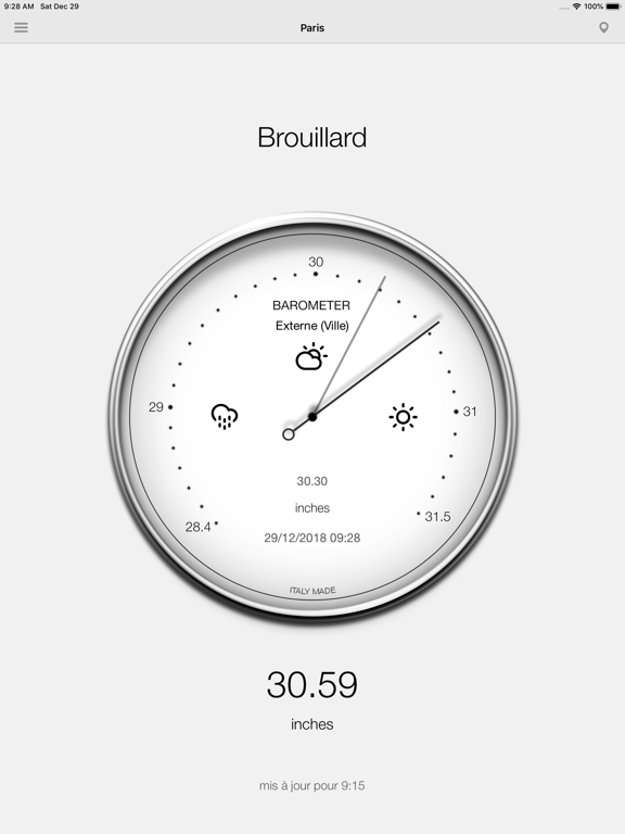 Screenshot #6 pour Baromètre - Pression