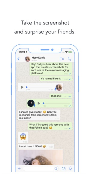 Fake It - Fake chat creator on the App Store