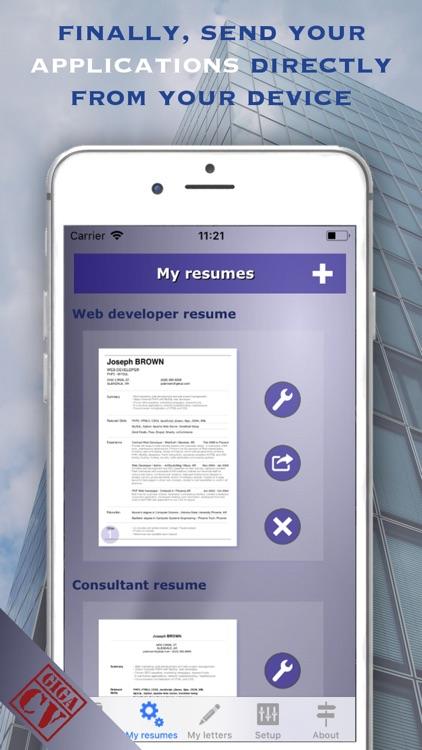 giga-cv Your resume screenshot-5