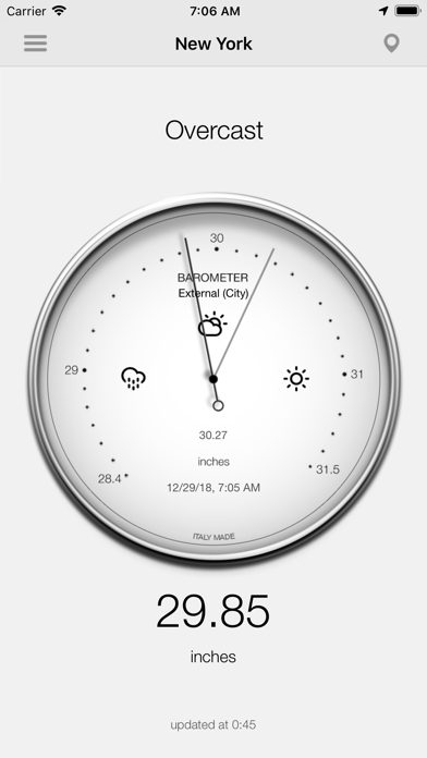 Barometer-Atmospheric pressure Screenshot