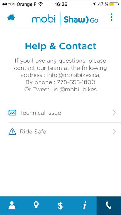Mobi by Shaw Go - bike share screenshot two