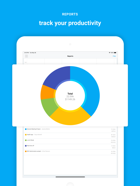 Clockify Time Tracker by COING (iOS, United States) - SearchMan App