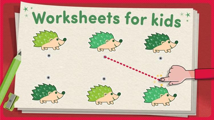 Worksheets kids learning games