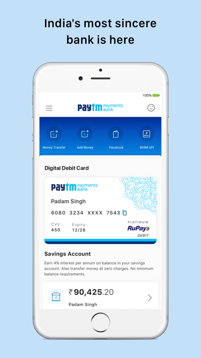 Paytm- Payments & Bank Account for Windows