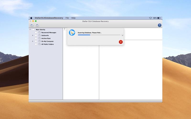 Stellar OLK Database Recovery скриншот программы 3