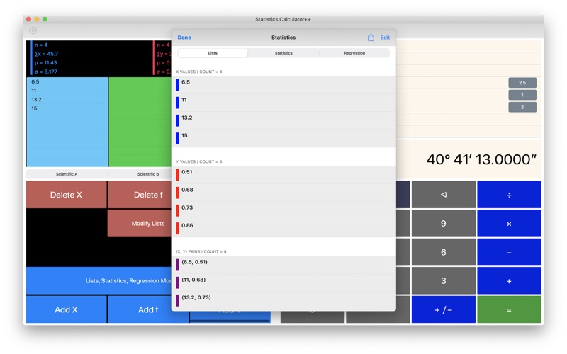 Statistics Calculator++ for Mac