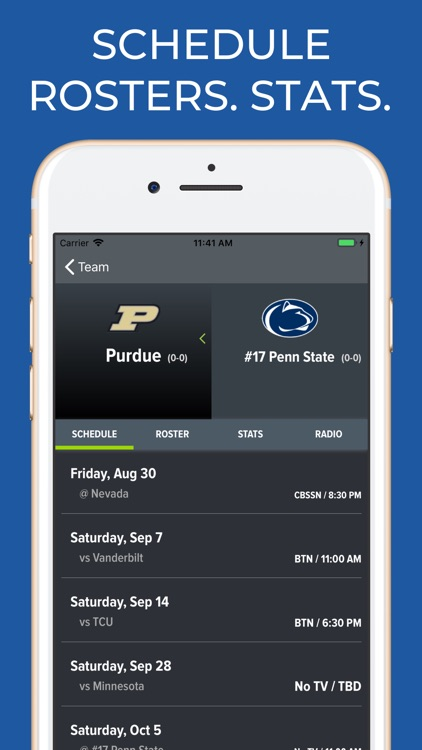 Penn State Football Schedules screenshot-9