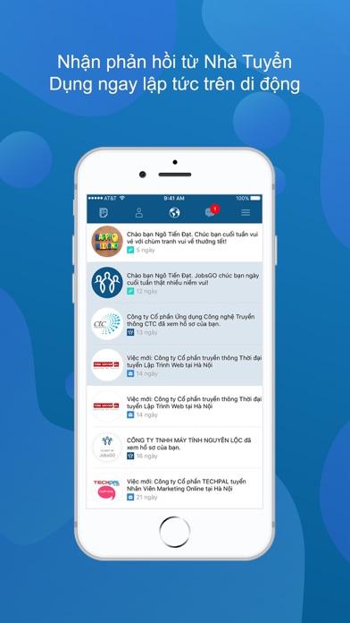 Screenshot #3 pour JobsGO: Việc Làm Tìm Đến Bạn