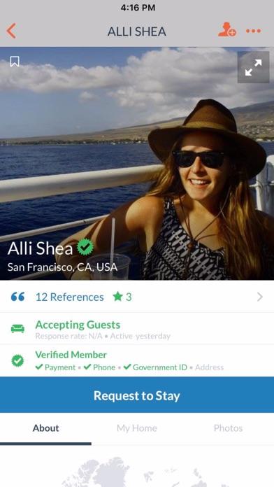 Screenshot for Couchsurfing Travel App in Azerbaijan App Store